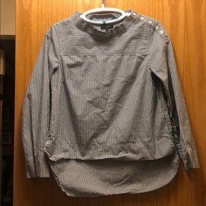 J. Crew funnel neck cotton blouse